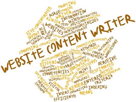 perceive: Word cloud astratto per scrittore di contenuti del sito web con tag correlati e termini