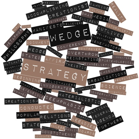 advocated: Abstract word cloud for Wedge strategy with related tags and terms