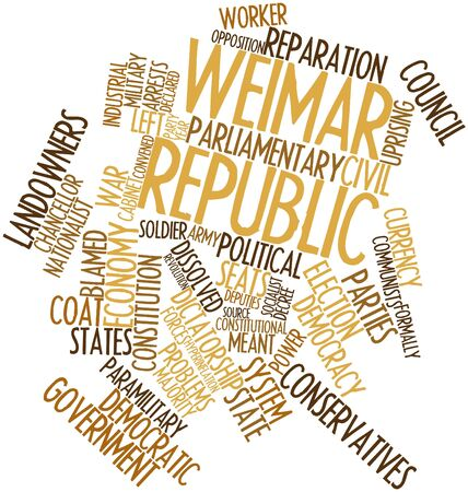 conservatives: Abstract word cloud for Weimar Republic with related tags and terms