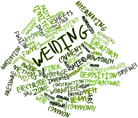 deposition: Abstract word cloud for Welding with related tags and terms