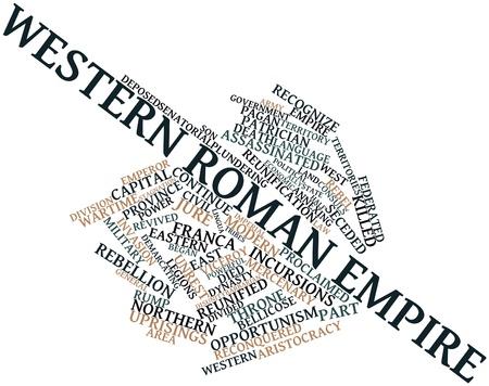 derecho romano: Nube palabra abstracta para Imperio Romano de Occidente con las etiquetas y términos relacionados Foto de archivo
