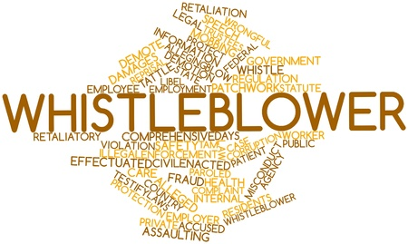 Abstract word cloud for Whistleblower with related tags and terms