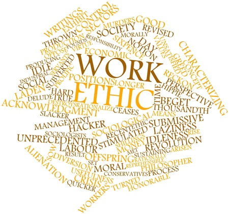 virtue: Abstract word cloud for Work ethic with related tags and terms