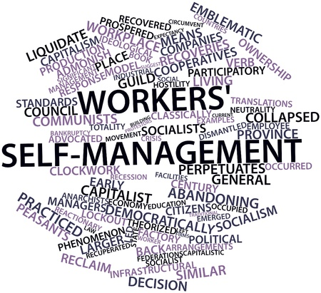 advocated: Abstract word cloud for Workers self-management with related tags and terms