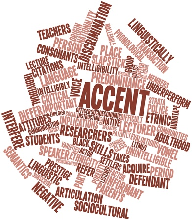 informant: Abstract word cloud for Accent with related tags and terms