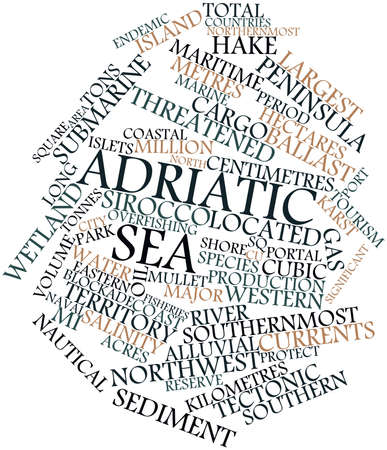 Abstract word cloud for Adriatic Sea with related tags and terms Stock Photo - 17320094