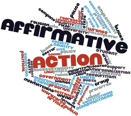 Abstract word cloud for Affirmative action with related tags and terms Stock Photo - 17319520