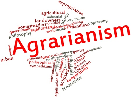 praised: Abstract word cloud for Agrarianism with related tags and terms