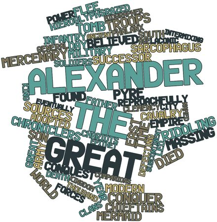 Abstract word cloud for Alexander the Great with related tags and terms Stock Photo - 17320255