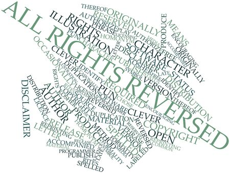 thereof: Abstract word cloud for All rights reversed with related tags and terms Stock Photo