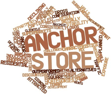 Abstract word cloud for Anchor store with related tags and terms Stock Photo - 17319566