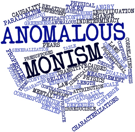 Abstract word cloud for Anomalous monism with related tags and terms Stock Photo - 17320322