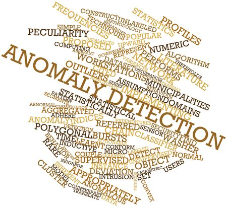 detection: Abstract word cloud for Anomaly detection with related tags and terms Stock Photo