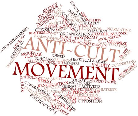 normative: Abstract word cloud for Anti-cult movement with related tags and terms