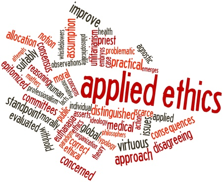 reasoning: Abstract word cloud for Applied ethics with related tags and terms