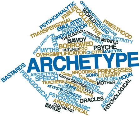 archetypal: Abstract word cloud for Archetype with related tags and terms