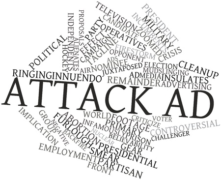 Abstract word cloud for Attack ad with related tags and terms Stock Photo - 17319518