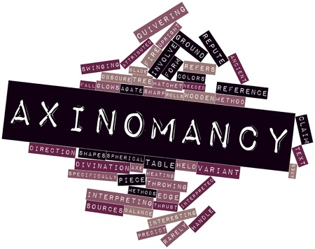 Abstract word cloud for Axinomancy with related tags and terms Stock Photo - 17319408