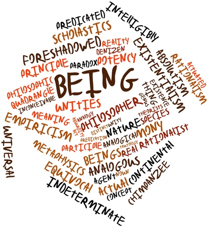 potency: Abstract word cloud for Being with related tags and terms