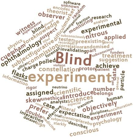 Abstracte woordwolk voor Blind experimenteren met gerelateerde tags en termen