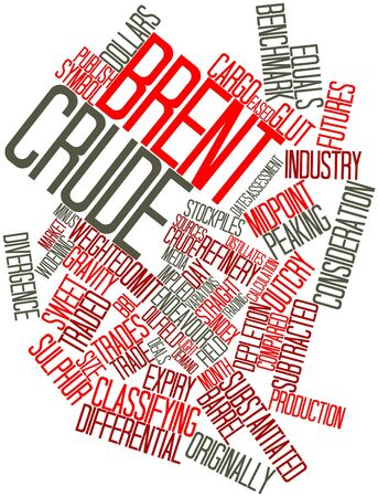 Abstract word cloud for Brent Crude with related tags and terms photo