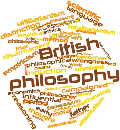 criticised: Abstract word cloud for British philosophy with related tags and terms Stock Photo
