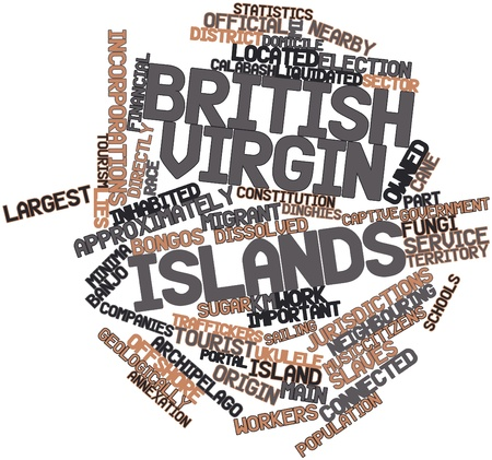 dissolved: Abstract word cloud for British Virgin Islands with related tags and terms
