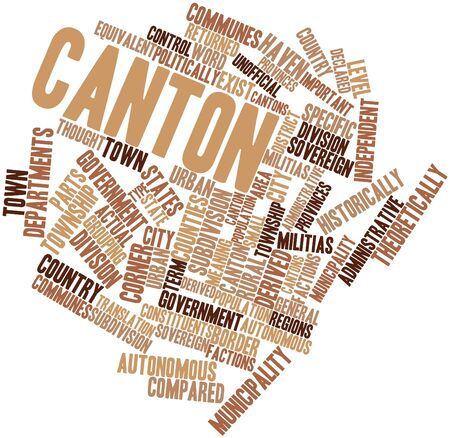 returned: Abstract word cloud for Canton with related tags and terms Stock Photo