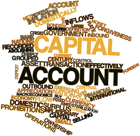 sterilization: Abstract word cloud for Capital account with related tags and terms