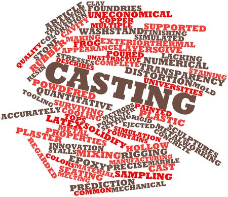 Abstract word cloud for Casting with related tags and terms Stock Photo - 17320152