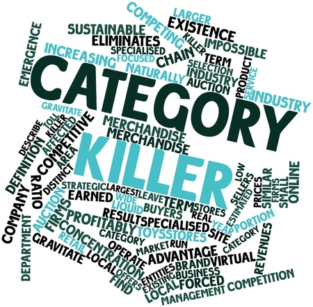 category: Abstract word cloud for Category killer with related tags and terms