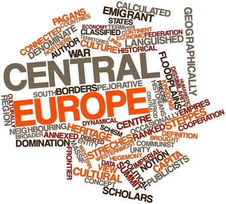 historians: Word cloud astratto per l'Europa centrale con tag correlati e termini Archivio Fotografico
