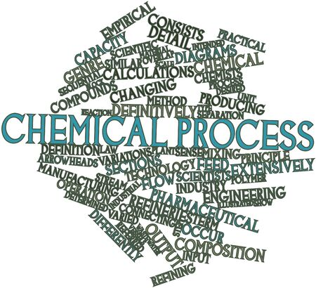 Abstract word cloud for Chemical process with related tags and terms Stock Photo - 17320147