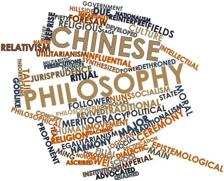 Abstract word cloud for Chinese philosophy with related tags and terms Stock Photo - 17320037