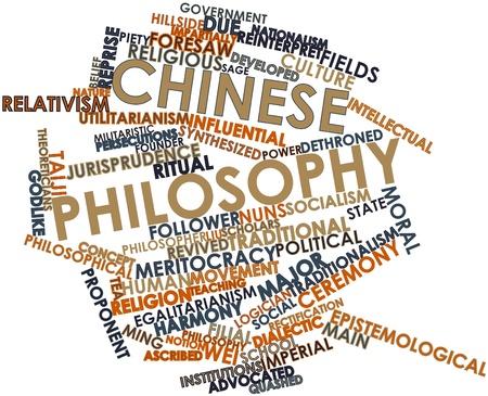 Abstrakte Wortwolke für chinesische Philosophie verwandte Tags und Begriffe