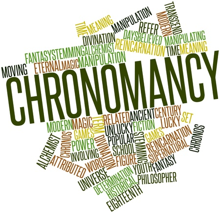 Abstract word cloud for Chronomancy with related tags and terms Stock Photo - 17320150