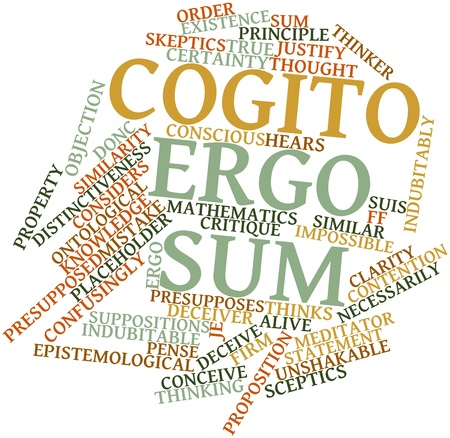 meditator: Abstract word cloud for Cogito ergo sum with related tags and terms