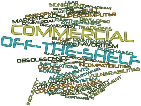 Abstract word cloud for Commercial off-the-shelf with related tags and terms Stock Photo - 17319876