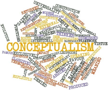 distinctly: Abstract word cloud for Conceptualism with related tags and terms