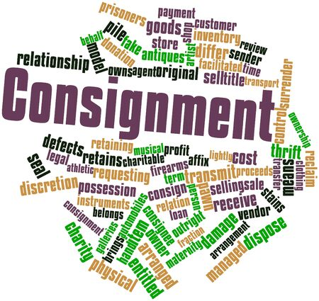 consignment: Abstract word cloud for Consignment with related tags and terms Stock Photo
