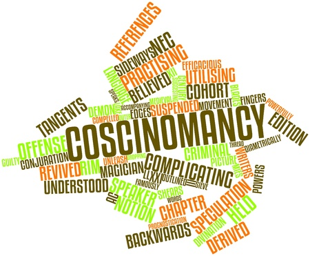 Abstract word cloud for Coscinomancy with related tags and terms