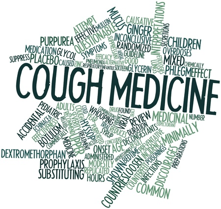 purported: Word cloud astratto per la medicina Tosse con tag correlati e termini