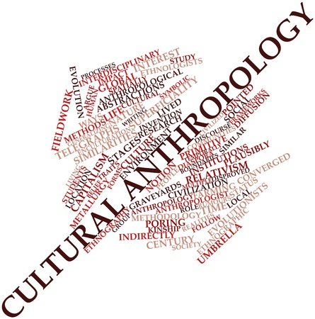 fieldwork: Abstract word cloud for Cultural anthropology with related tags and terms Stock Photo