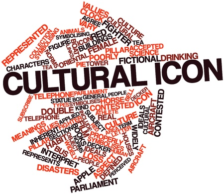 Abstract word cloud for Cultural icon with related tags and terms photo