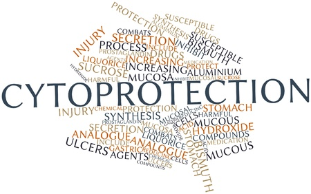 ulcers: Abstract word cloud for Cytoprotection with related tags and terms