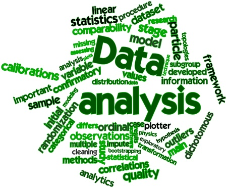Abstract word cloud for Data analysis with related tags and terms