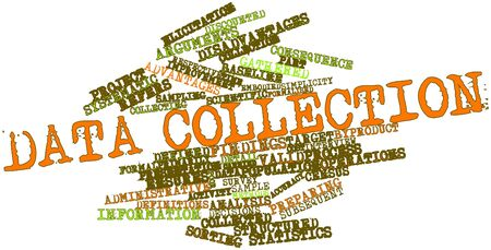 Abstract word cloud for Data collection with related tags and terms Stock Photo - 17319466