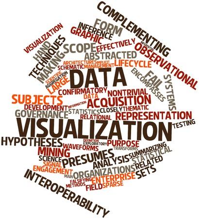関連するタグと用語とデータの可視化のための抽象的な単語雲
