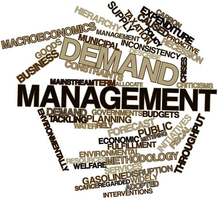 constraints: Abstract word cloud for Demand management with related tags and terms Stock Photo