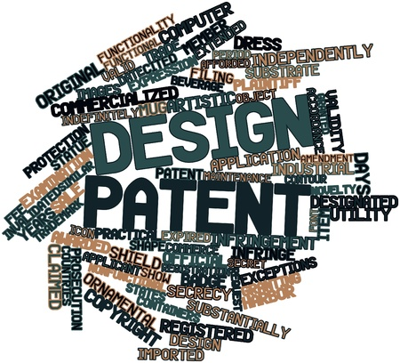 plaintiff: Abstract word cloud for Design patent with related tags and terms
